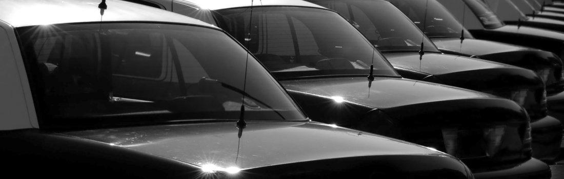 line of black cars